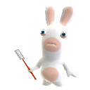Rabbid mit Fliegenklatsche