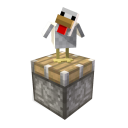 Minecraft Poulet et piston 