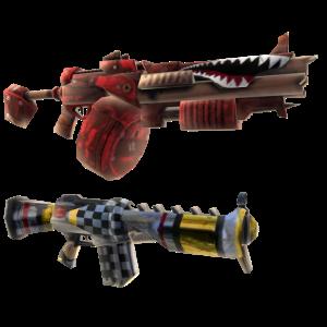 Armas dobles para niños Gunzerker