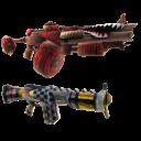 Zwei Gunzerker-Spielzeugknarren