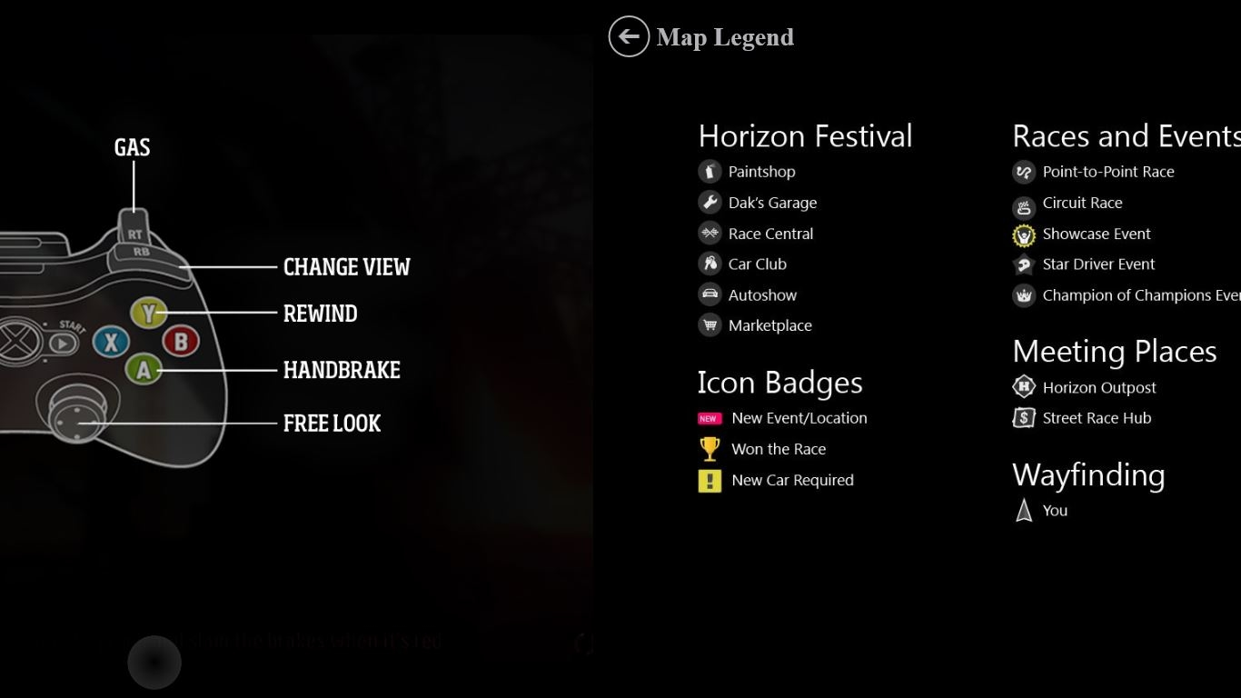 Image from Forza Horizon SmartGlass Experience