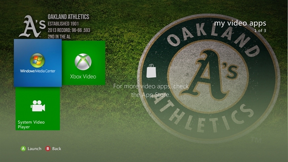 Image from MLB - Athletics Dugout Theme