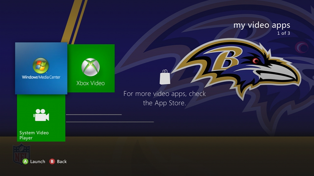 Image from NFL - Ravens Rush Theme