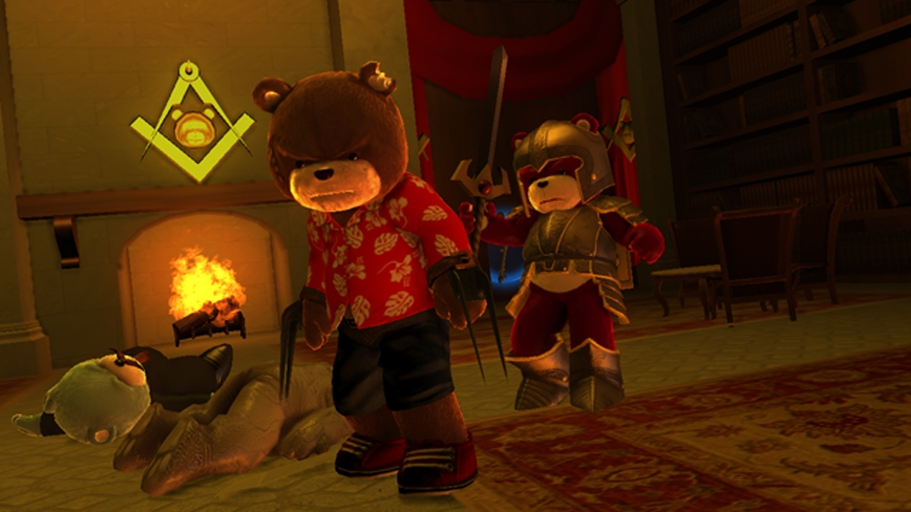 Image from Naughty Bear Panic in Paradise - BatBear Costume