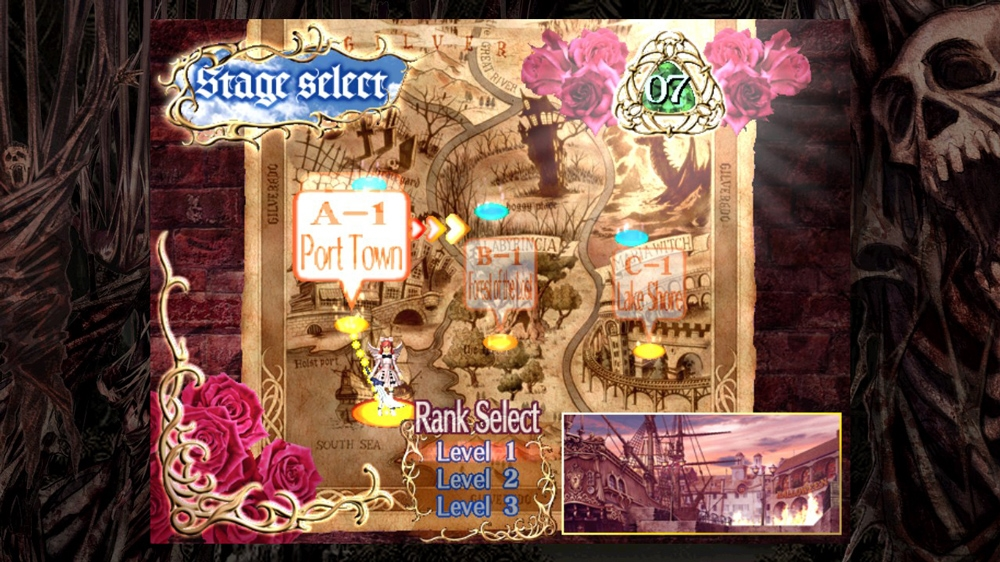 Image from Deathsmiles Roses Theme