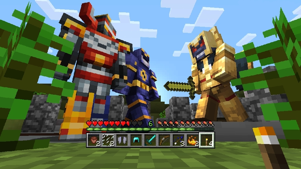 Image from Minecraft Power Rangers Skin Pack