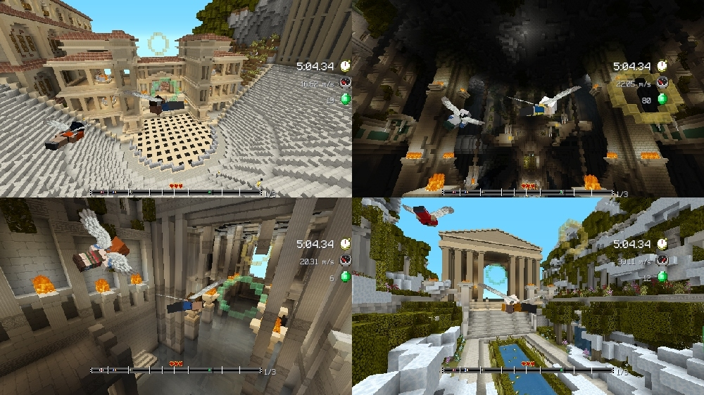 Image from Minecraft Glide Myths Track Pack
