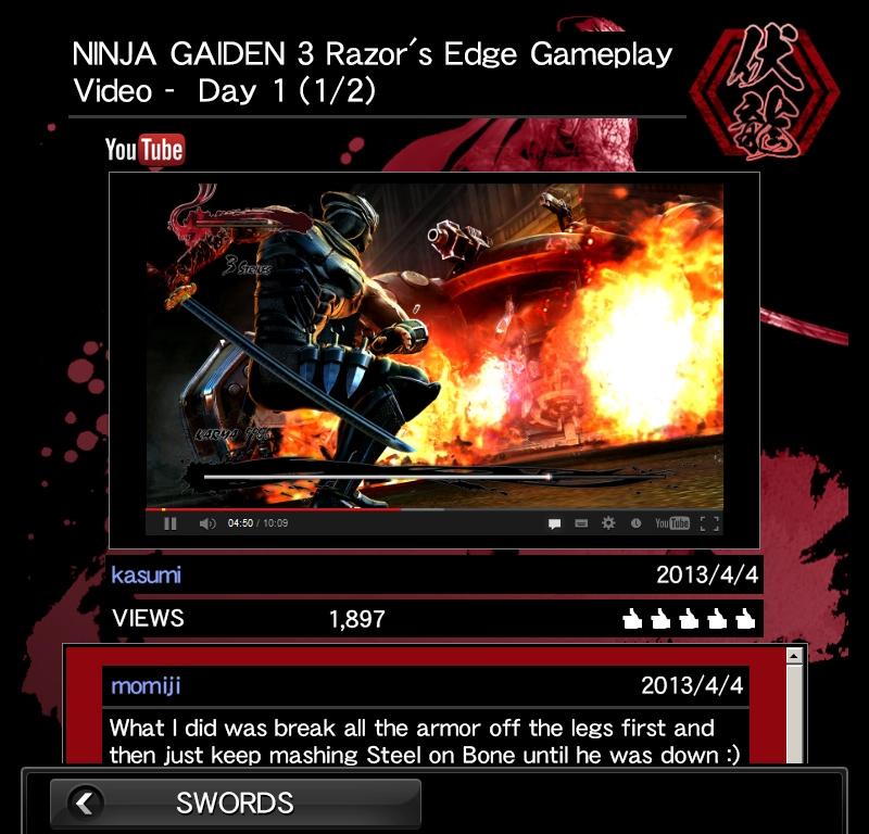 Imagen de NINJA GAIDEN 3: Razor's Edge - SmartGlass