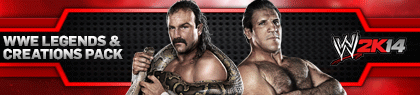 WWE 2K14 DLC - Legends and Creation Pack Banner