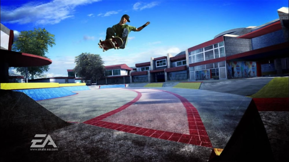 Snímek ze hry skate.