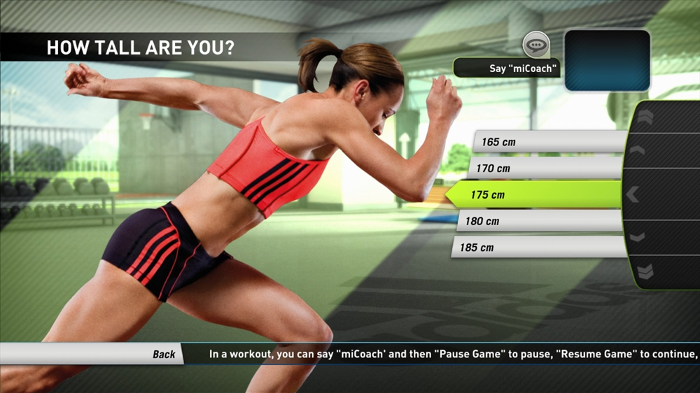 Image from miCoach