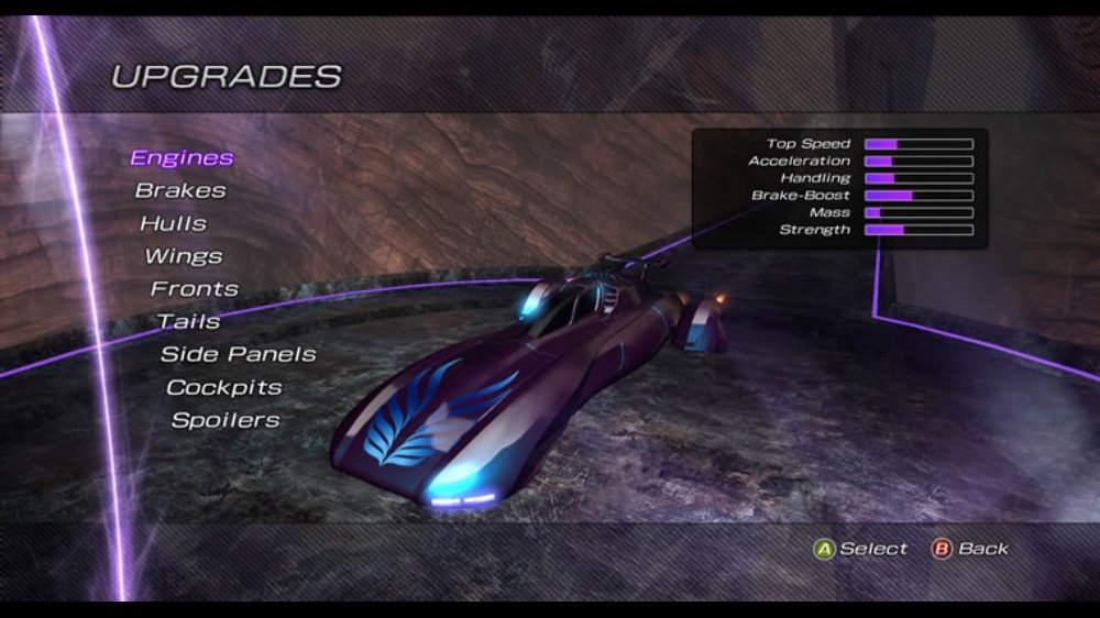 Snímek ze hry Fatal Inertia