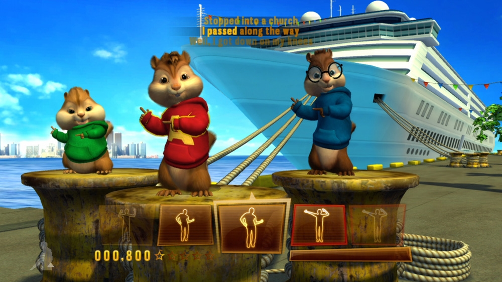 Snímek ze hry Alvin and The Chipmunks™: Chipwrecked
