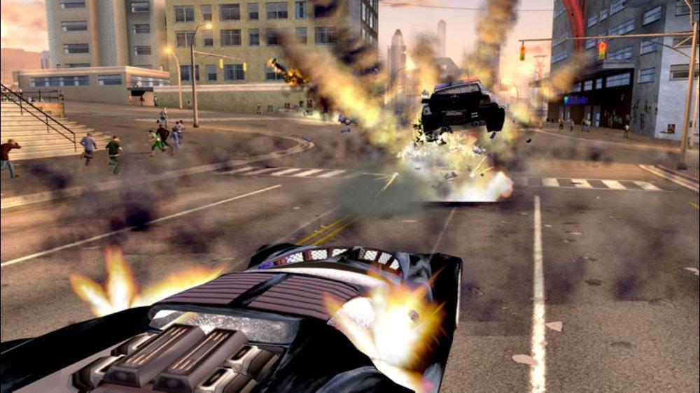 Snímek ze hry Crackdown
