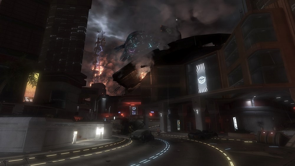 Bilde fra Halo 3: ODST historiespillutgave