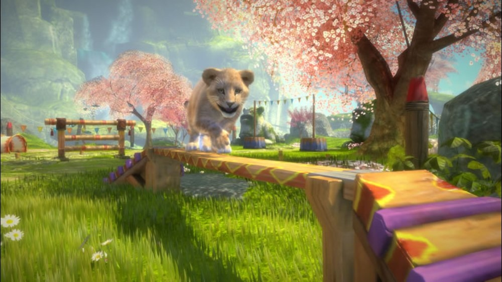 Snímek ze hry Kinectimals