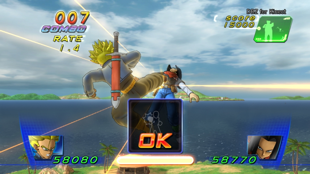 Obraz z DBZ for Kinect™