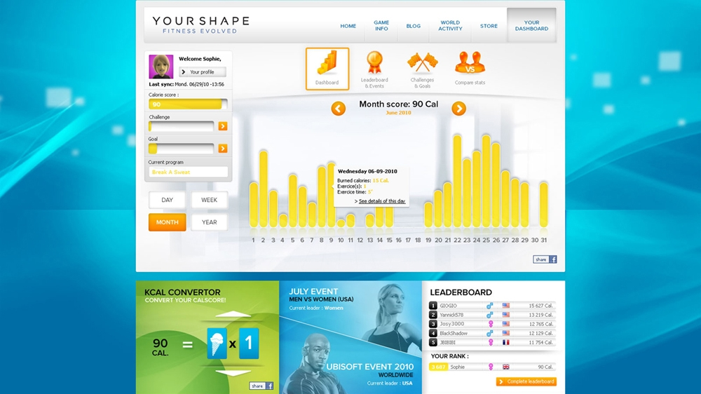 Kp, forrsa: Your Shape : Fitness Evolved