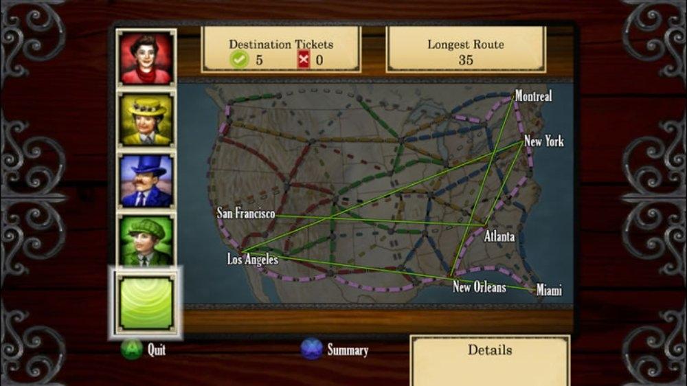Snímek ze hry Ticket to Ride™