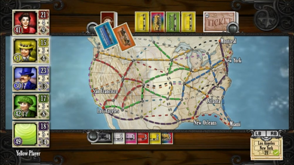 Snmek ze hry Ticket to Ride
