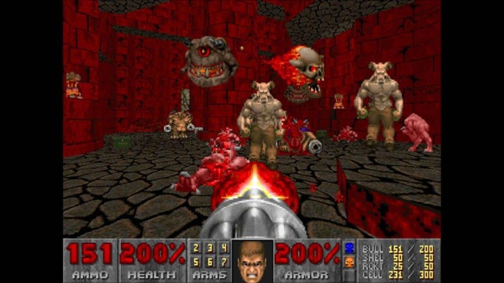 Snímek ze hry DOOM II
