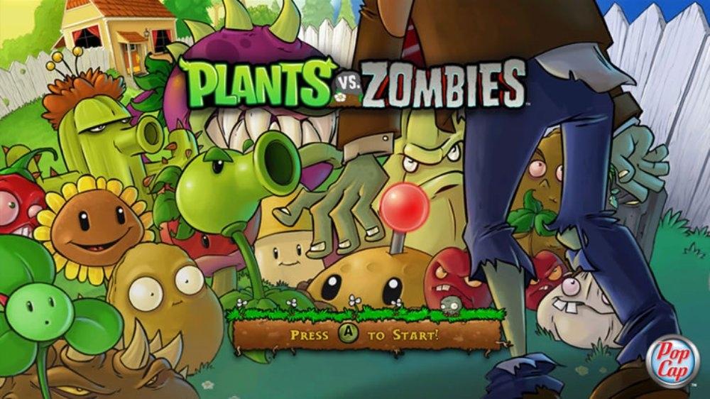 Snímek ze hry Plants vs. Zombies