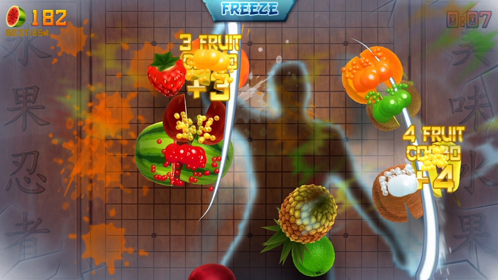 Image from Fruit Ninja Kinect
