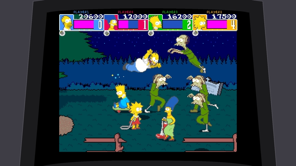 Image from The Simpsons Arcade Game