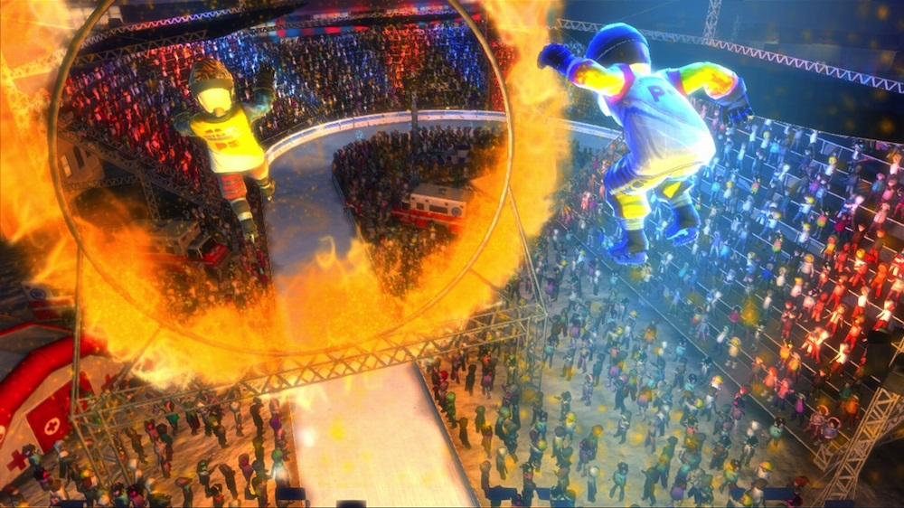 Bilde fra Red Bull Crashed Ice Kinect