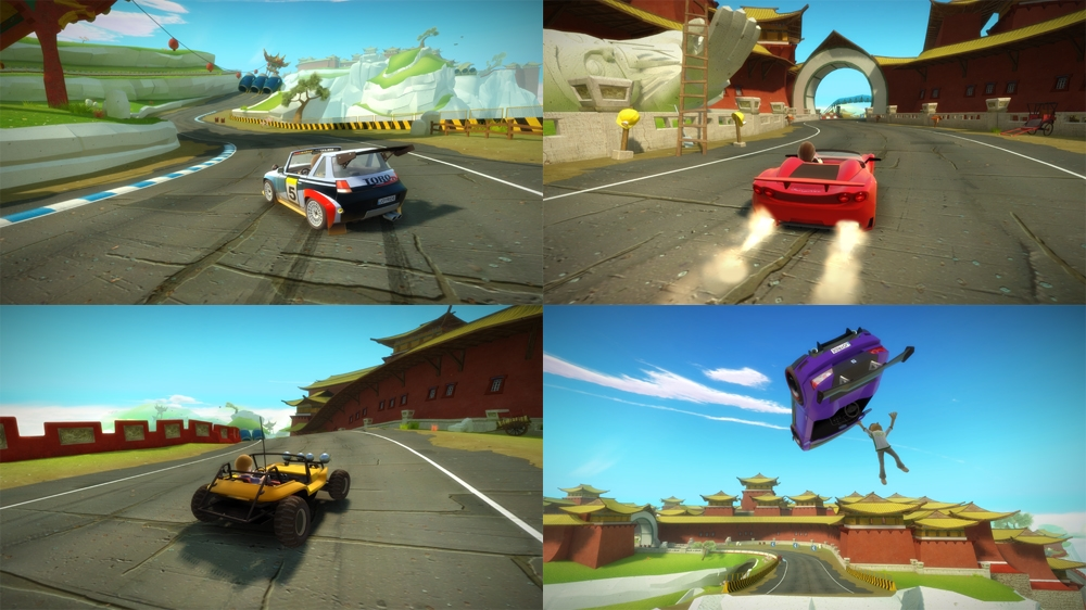 4-player Split-screen Racing