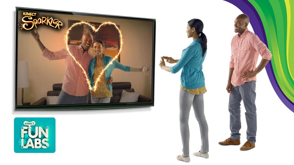 Image from Kinect Sparkler