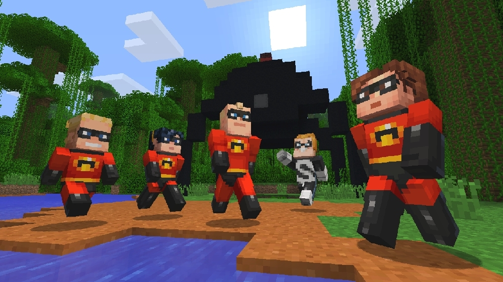 Image from Minecraft The Incredibles Skin Pack