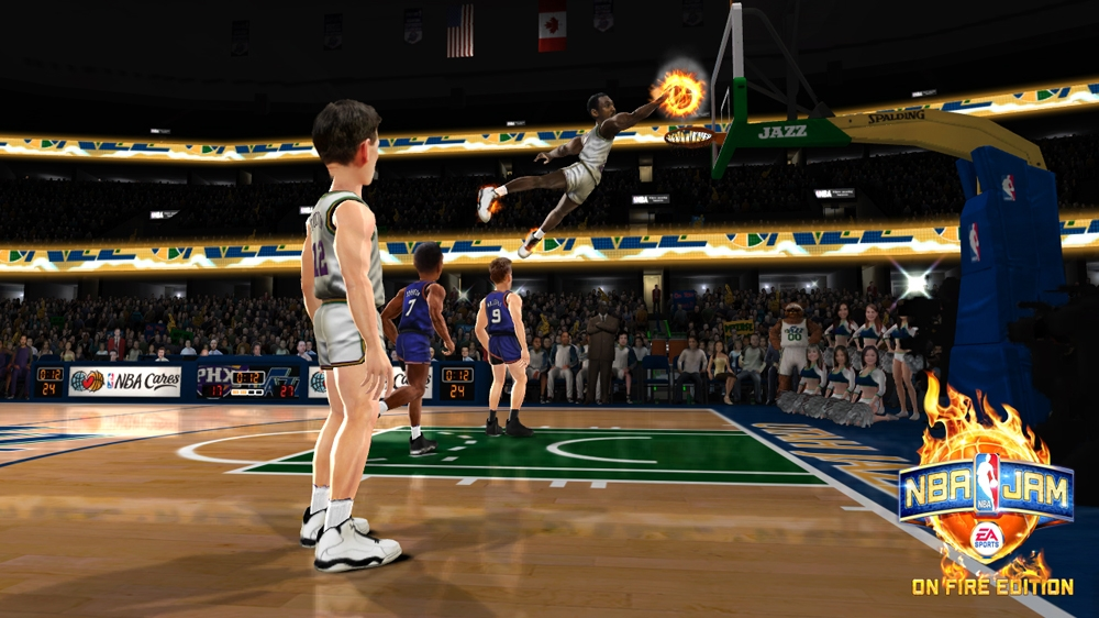 Image from NBA JAM: On Fire Edition - SSX Unlockables Sizzle