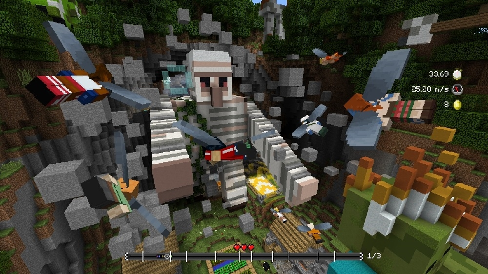 Image from Minecraft Glide Giants Track Pack