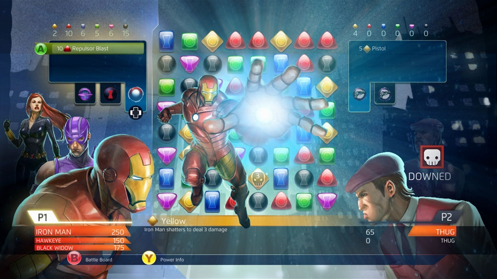 Image from Marvel Puzzle Quest: Dark Reign Volume 1: Science Friction – Hulk & Punisher