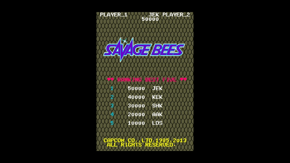 Image from CAPCOM ARCADE CABINET : SAVAGE BEES