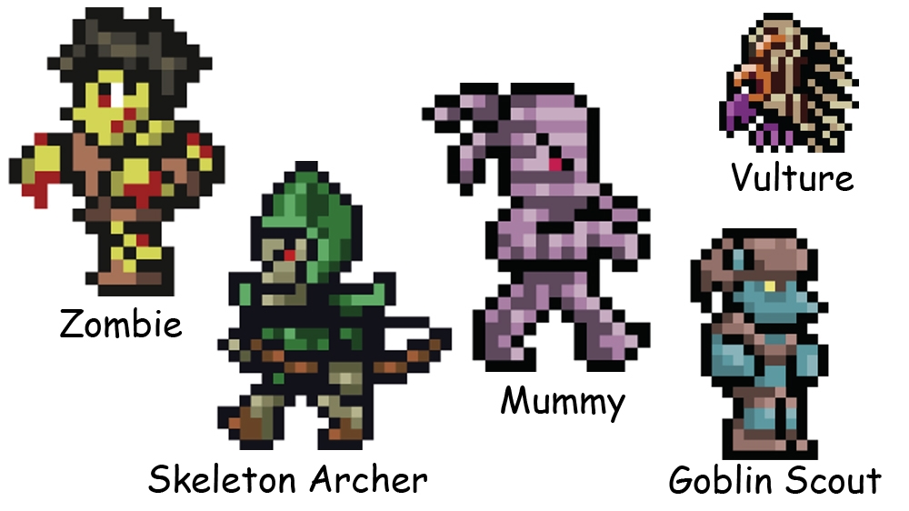 Image from Terraria – Xbox 360 Edition. Enemies pack 2