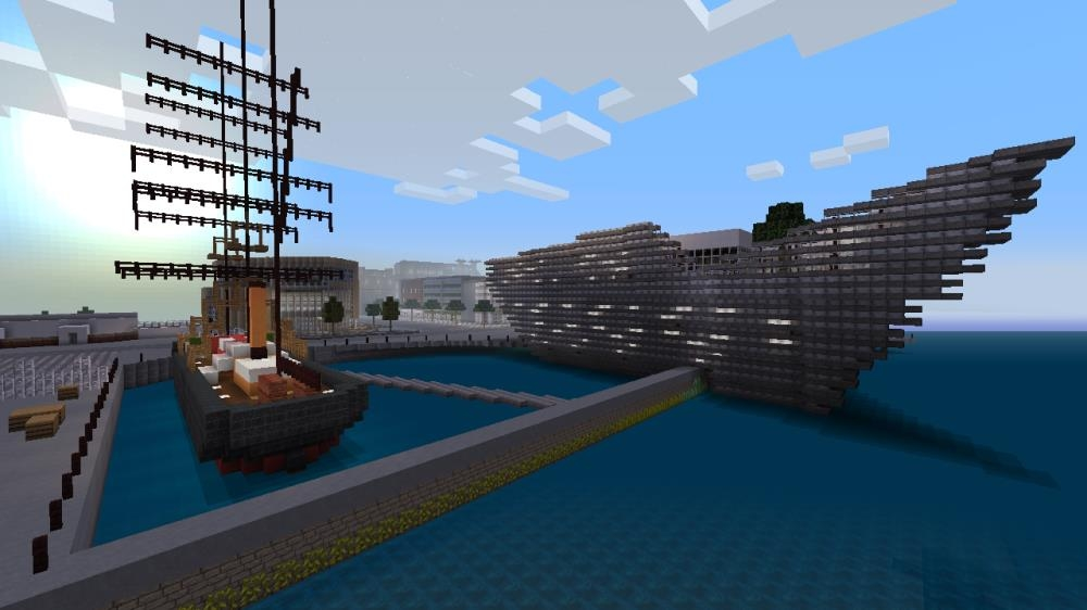 Image from Minecraft City Texture Pack Trailer