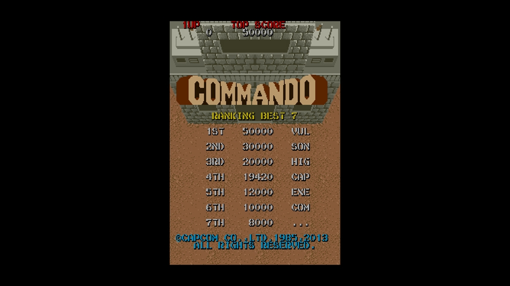 Image from CAPCOM ARCADE CABINET : COMMANDO