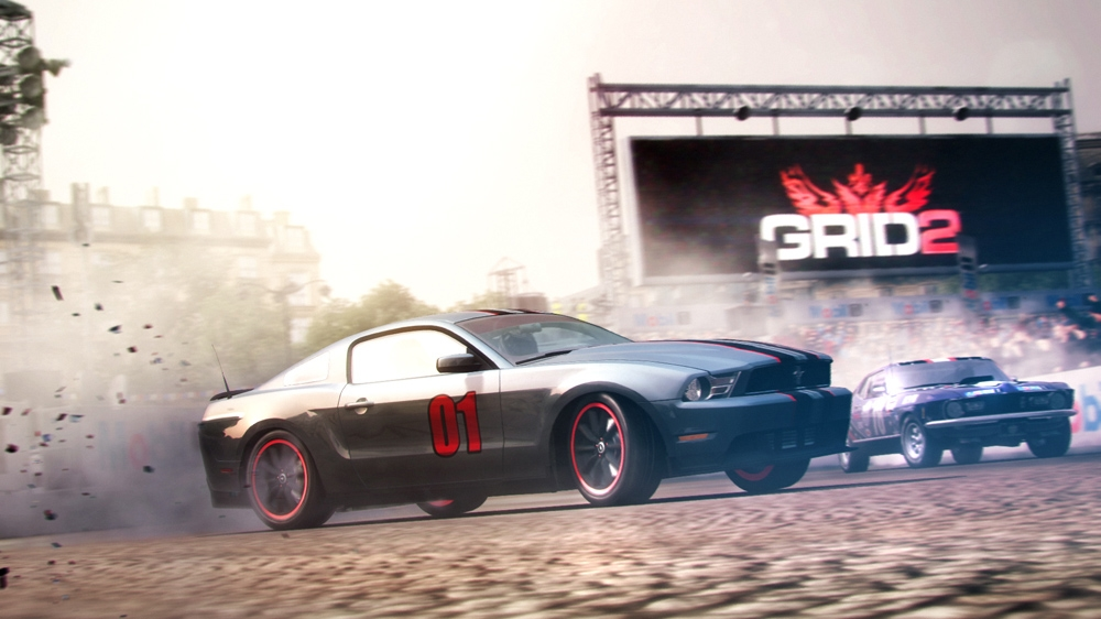 Snímek ze hry ESPN SportsCenter: The big question – GRID 2