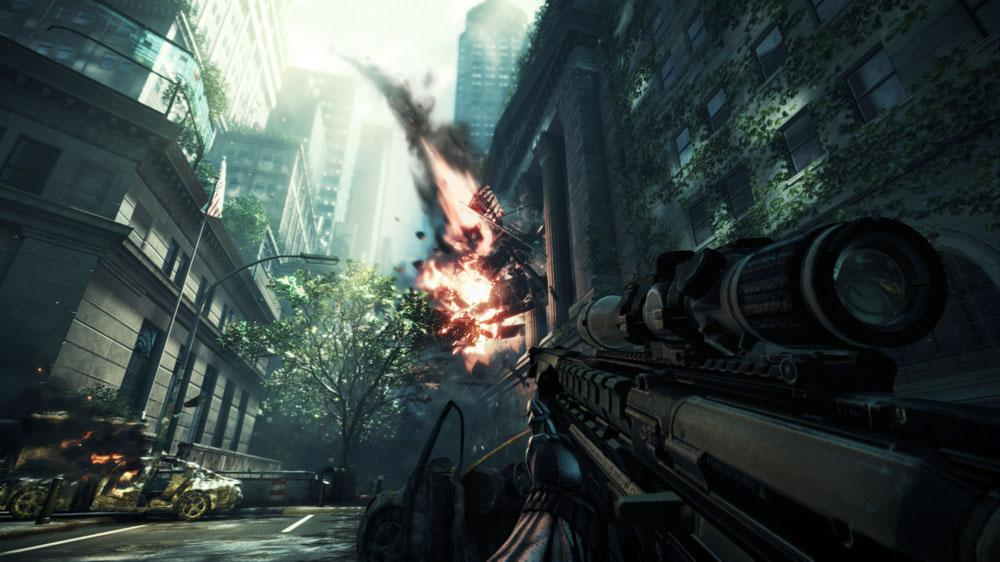 Snímek ze hry Crysis 2 Launch Trailer Feat. B.o.B