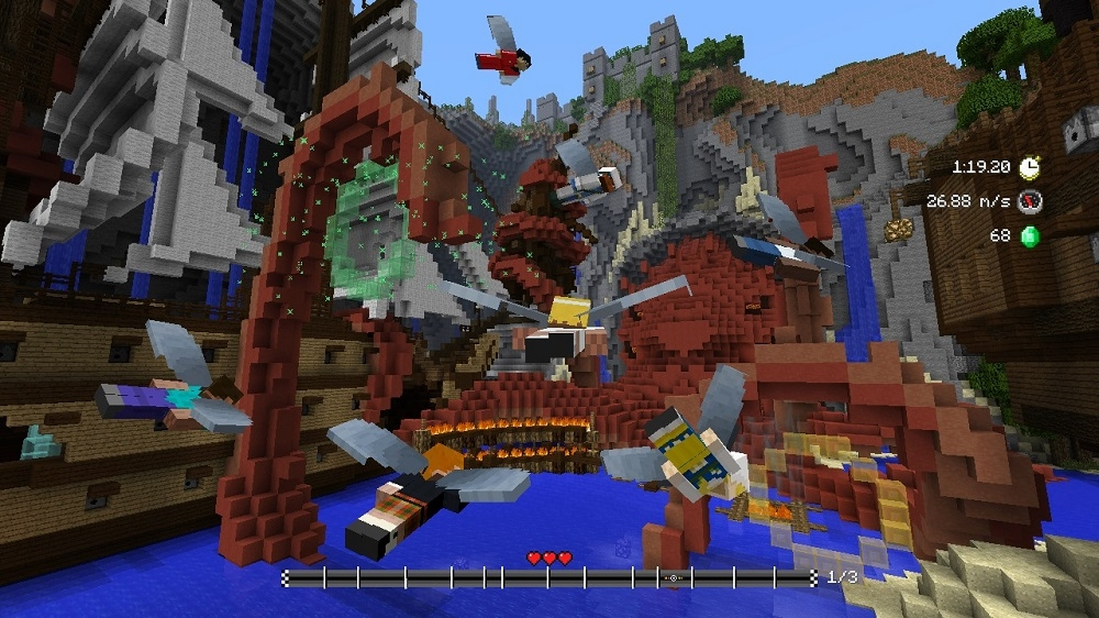 Image from Minecraft Glide Beasts Track Pack