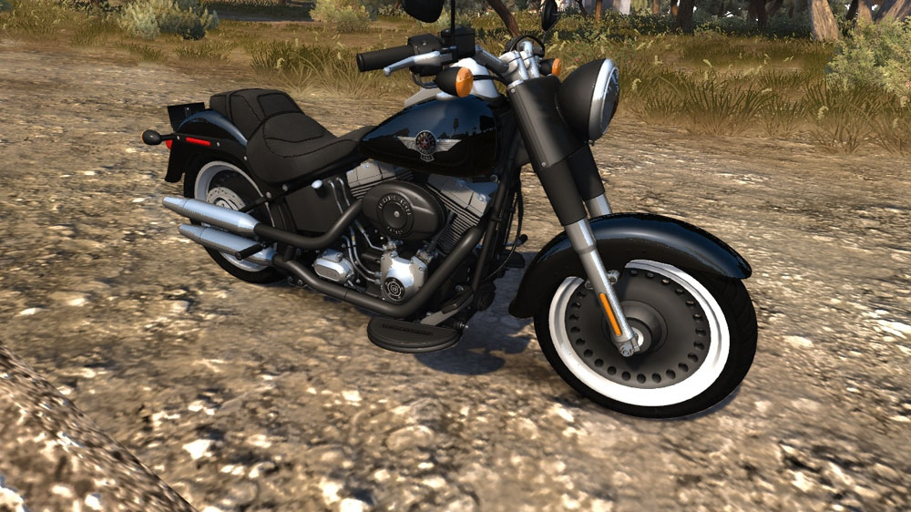 Image from TDU2: Harley Davidson Fatboy Lo