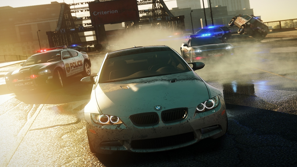 Snímek ze hry NEED FOR SPEED™  MOST WANTED Announcement Trailer