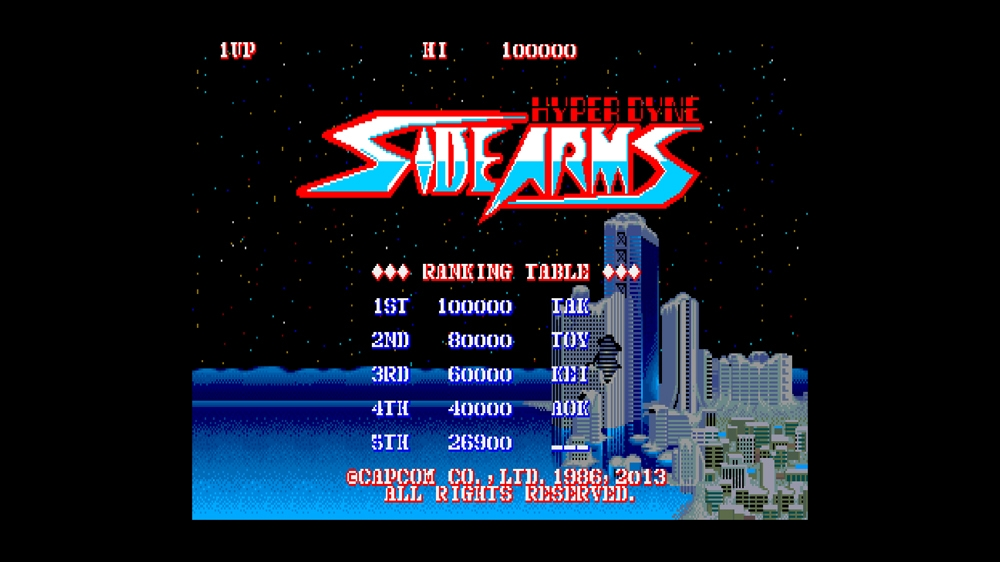 Image from CAPCOM ARCADE CABINET : SIDE ARMS