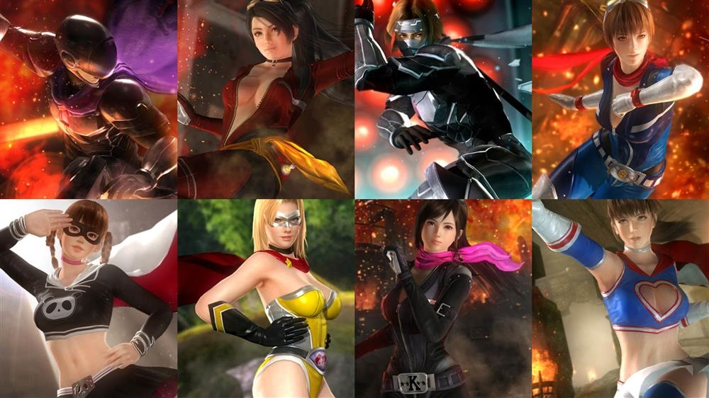 Image de DOA5LR - Set de tenues Fighter Force