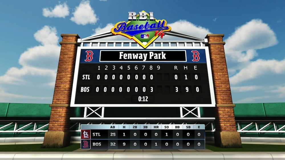 Image from R.B.I. Baseball 14 Gameplay
