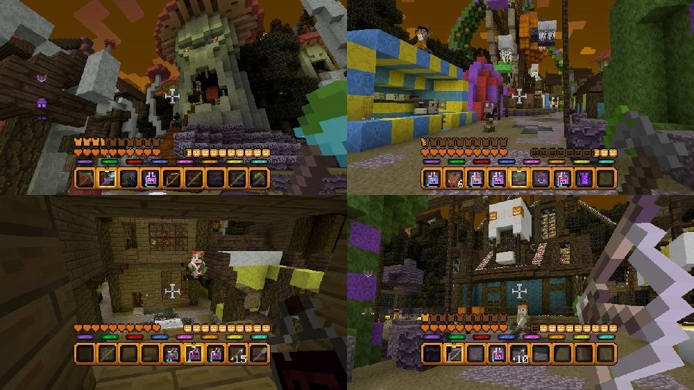 Imagen de Mapa Batalla Halloween de Minecraft