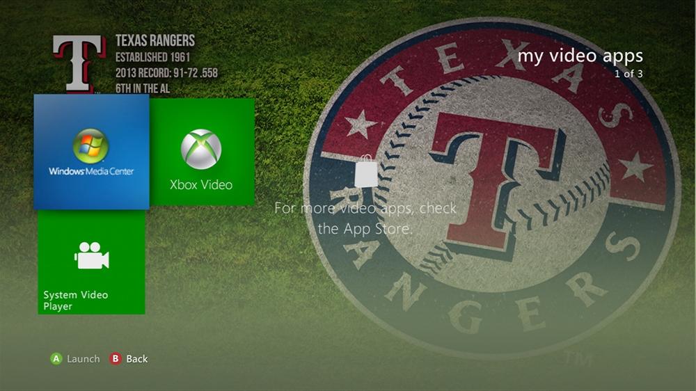 Imagen de MLB - Rangers Dugout Theme
