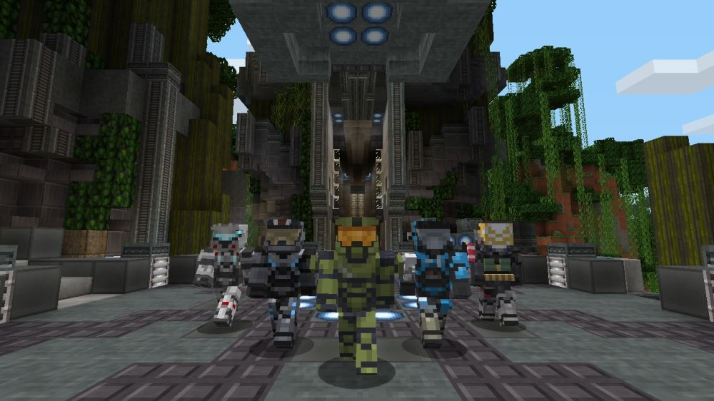Image from Halo Mash-up: Minecraft Evolved